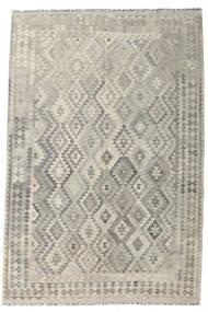 Kilim Afghan Old Style Rug 199X301 Authentic  Oriental Handwoven Light Grey/Dark Beige (Wool, Afghanistan)