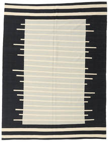 Kilim Modern Rug 216X286 Authentic  Modern Handwoven Black/Dark Beige (Wool, Afghanistan)