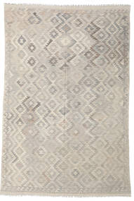 Kelim Afghan Old Style Tæppe 200X297 Ægte Orientalsk Håndvævet Lysegrå/Lysebrun (Uld, Afghanistan)