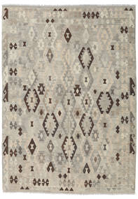 Kilim Afghan Old Style Rug 210X295 Authentic  Oriental Handwoven Light Grey/Light Brown (Wool, Afghanistan)