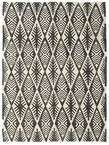 Kilim Modern Rug 220X293 Authentic  Modern Handwoven Dark Grey/Beige (Wool, Afghanistan)
