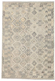 Kilim Afghan Old Style Rug 198X298 Authentic  Oriental Handwoven Light Brown/Light Grey (Wool, Afghanistan)