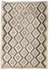 Kilim Afghan Old Style Rug 205X291 Authentic  Oriental Handwoven Light Brown/Light Grey (Wool, Afghanistan)