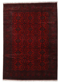 Afghan Khal Mohammadi Rug 204X291 Authentic  Oriental Handknotted Dark Brown/Dark Red (Wool, Afghanistan)