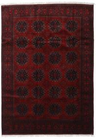 Afghan Khal Mohammadi Matta 201X283 Äkta Orientalisk Handknuten Mörkbrun/Mörkröd (Ull, Afghanistan)