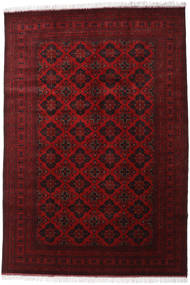 Afghan Khal Mohammadi Matta 200X293 Äkta Orientalisk Handknuten Mörkröd/Mörkbrun (Ull, Afghanistan)