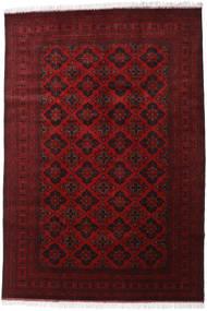 Afghan Khal Mohammadi Matta 200X293 Äkta Orientalisk Handknuten Mörkröd/Röd (Ull, Afghanistan)