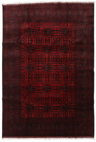 Afghan Khal Mohammadi Alfombra 200X292 Oriental Hecha A Mano Rojo Oscuro (Lana, Afganistán)