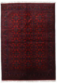 Afghan Khal Mohammadi Matta 174X250 Äkta Orientalisk Handknuten Mörkröd (Ull, Afghanistan)