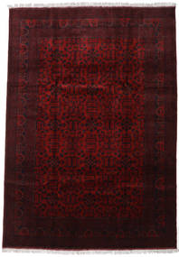 Afghan Khal Mohammadi Rug 206X293 Authentic  Oriental Handknotted Dark Brown/Dark Red (Wool, Afghanistan)