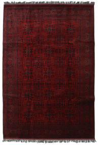 Afghan Khal Mohammadi Matta 205X300 Äkta Orientalisk Handknuten Mörkbrun/Mörkröd (Ull, Afghanistan)