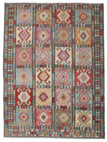 Kilim Afghan Old Style Rug 260X345 Authentic  Oriental Handwoven Light Grey/Dark Grey Large (Wool, Afghanistan)