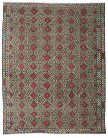 Kilim Afghan Old Style Rug 314X391 Authentic  Oriental Handwoven Dark Grey/Olive Green Large (Wool, Afghanistan)