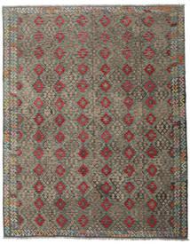 Kilim Afghan Old Style Rug 318X399 Authentic  Oriental Handwoven Dark Grey/Light Brown Large (Wool, Afghanistan)
