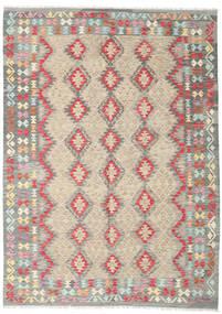 Kelim Afghan Old Style Vloerkleed 202X286 Echt Oosters Handgeweven Lichtgrijs/Beige (Wol, Afghanistan)