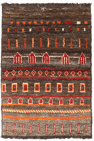 Barchi/Moroccan Berber - Afganistan Matta 101X147 Äkta Modern Handknuten Brun/Mörkbrun (Ull, Afghanistan)