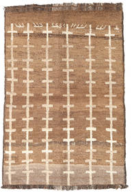 Barchi/Moroccan Berber - Afganistan Rug 87X129 Authentic  Modern Handknotted Light Brown/Brown (Wool, Afghanistan)