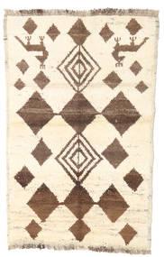 Barchi/Moroccan Berber - Afganistan Rug 85X133 Authentic  Modern Handknotted Beige/Brown (Wool, Afghanistan)