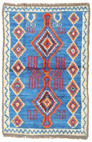 Barchi/Moroccan Berber - Afganistan Matto 88X133 Moderni Käsinsolmittu Sininen/Beige (Villa, Afganistan)
