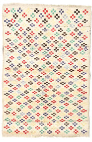 Barchi/Moroccan Berber - Afganistan Rug 93X138 Authentic  Modern Handknotted Beige/Light Pink (Wool, Afghanistan)