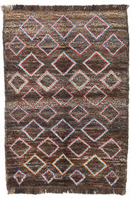 Barchi/Moroccan Berber - Afganistan Matto 90X129 Moderni Käsinsolmittu Vaaleanruskea/Tummanharmaa (Villa, Afganistan)