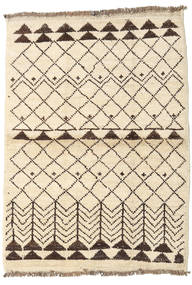 Barchi/Moroccan Berber - Afganistan Rug 99X136 Authentic  Modern Handknotted Beige/Yellow (Wool, Afghanistan)