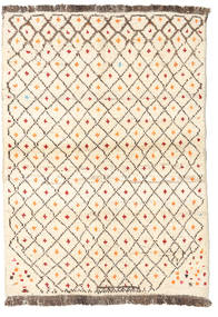 Barchi/Moroccan Berber - Afganistan Rug 92X130 Authentic  Modern Handknotted Beige/Light Brown (Wool, Afghanistan)
