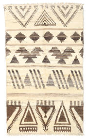 Barchi/Moroccan Berber - Afganistan Rug 122X207 Authentic  Modern Handknotted Beige/Light Brown (Wool, Afghanistan)