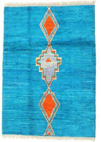 Barchi/Moroccan Berber - Afganistan Matto 118X170 Moderni Käsinsolmittu Tumma Turkoosi/Vaaleansininen (Villa, Afganistan)