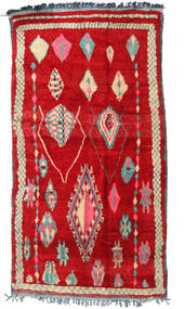 Berber Moroccan - Mid Atlas Rug 175X330 Authentic  Modern Handknotted Crimson Red (Wool, Morocco)
