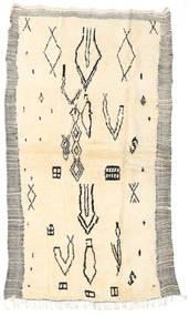Berber Moroccan - Beni Ourain Matta 142X240 Äkta Modern Handknuten Beige/Ljusgrå (Ull, Marocko)