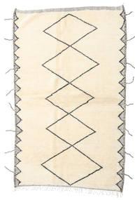 Berber Moroccan - Beni Ourain Matta 160X255 Äkta Modern Handknuten Hallmatta Beige/Vit/Cremefärgad (Ull, Marocko)