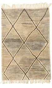 Berber Moroccan - Beni Ourain Rug 123X180 Authentic  Modern Handknotted Light Brown/Beige (Wool, Morocco)