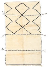 Berber Moroccan - Beni Ourain Rug 125X225 Authentic Modern Handknotted Beige (Wool, Morocco)
