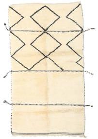 Berber Moroccan - Beni Ourain Teppe 125X225 Ekte Moderne Håndknyttet Beige (Ull, Marokko)