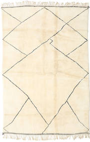 Berber Moroccan - Beni Ourain Rug 203X305 Authentic  Modern Handknotted Beige/Yellow (Wool, Morocco)