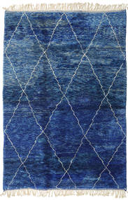 Berber Moroccan - Mid Atlas Rug 207X298 Authentic  Modern Handknotted Dark Blue/Blue (Wool, Morocco)