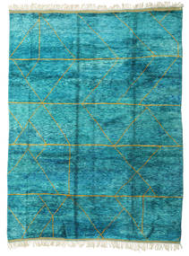 Berber Moroccan - Mid Atlas Rug 300X400 Authentic  Modern Handknotted Turquoise Blue/Beige Large (Wool, Morocco)