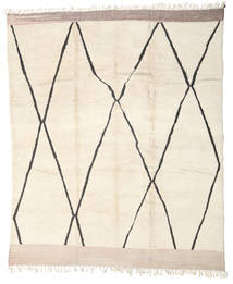 Berber Moroccan - Beni Ourain Rug 285X345 Authentic  Modern Handknotted Beige Large (Wool, Morocco)
