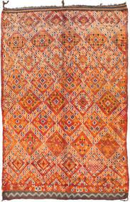 Berber Moroccan - Mid Atlas Matta 187X295 Äkta Modern Handknuten Orange/Mörkbrun (Ull, Marocko)