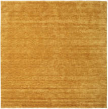 Handloom Fringes - Yellow Rug 300X300 Modern Square Light Brown/Orange Large (Wool, India)