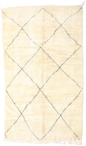 Berber Moroccan - Beni Ourain Rug 190X323 Authentic  Modern Handknotted Beige (Wool, Morocco)