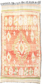 Berber Moroccan - Mid Atlas Rug 157X260 Authentic  Modern Handknotted Beige/Light Pink (Wool, Morocco)