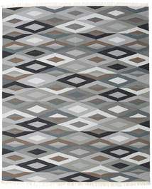 Zimba - Grey Rug 250X300 Authentic  Modern Handwoven Light Grey/Dark Grey Large (Wool, India)