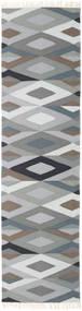 Zimba - Grey Rug 80X400 Authentic  Modern Handwoven Hallway Runner  Light Grey/Dark Grey (Wool, Persia/Iran)