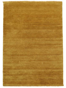 Handloom Fringes - Jaune Tapis 140X200 Moderne Marron Clair/Orange (Laine, Inde)