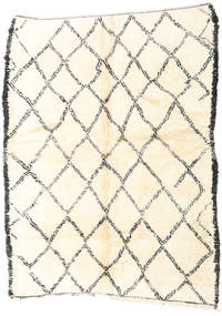 Berber Moroccan - Beni Ourain Rug 184X246 Authentic  Modern Handknotted Beige (Wool, Morocco)