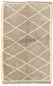 Berber Moroccan - Mid Atlas Rug 110X168 Authentic  Modern Handknotted Light Grey/Beige (Wool, Morocco)