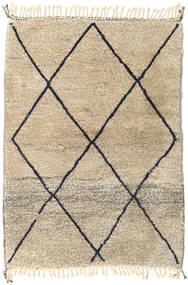 Berber Moroccan - Beni Ourain Matta 115X164 Äkta Modern Handknuten Ljusbrun/Beige (Ull, Marocko)