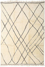 Berber Moroccan - Beni Ourain Rug 278X388 Authentic  Modern Handknotted Beige/Yellow Large (Wool, Morocco)